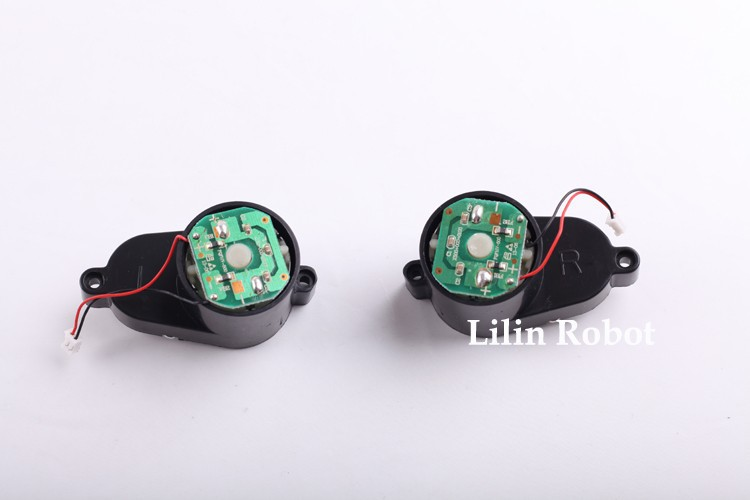 (For X500) Side Brush Motors Assembly for Vacuum Cleaning Robot, Including Left Motor Assembly x1pc+ Right Motor Assembly x1pc 1 piece robot vacuum cleaner wheels including right wheel assembly replacement for a320 a325