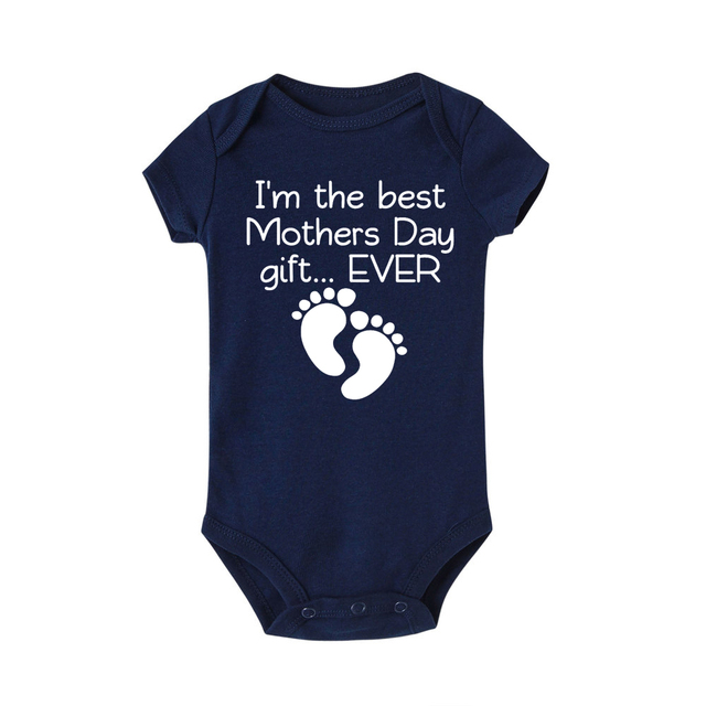 5f99c0012b I Am The Best Birthday Present Ever Funny Letter Newborn Baby Romper Infant  Sleeper Pajamas Jumpsuit One-piece Baby Clothes