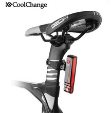 CoolChange Waterproof Bicycle Light  LED Taillight Cycling USB Rechargable Night Riding MTB Rear