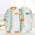 Roupas de bebê macacão primavera outono bebê recém-nascido macacão 100% algodão macacão de manga comprida, Roupas de bebê infantil 8081