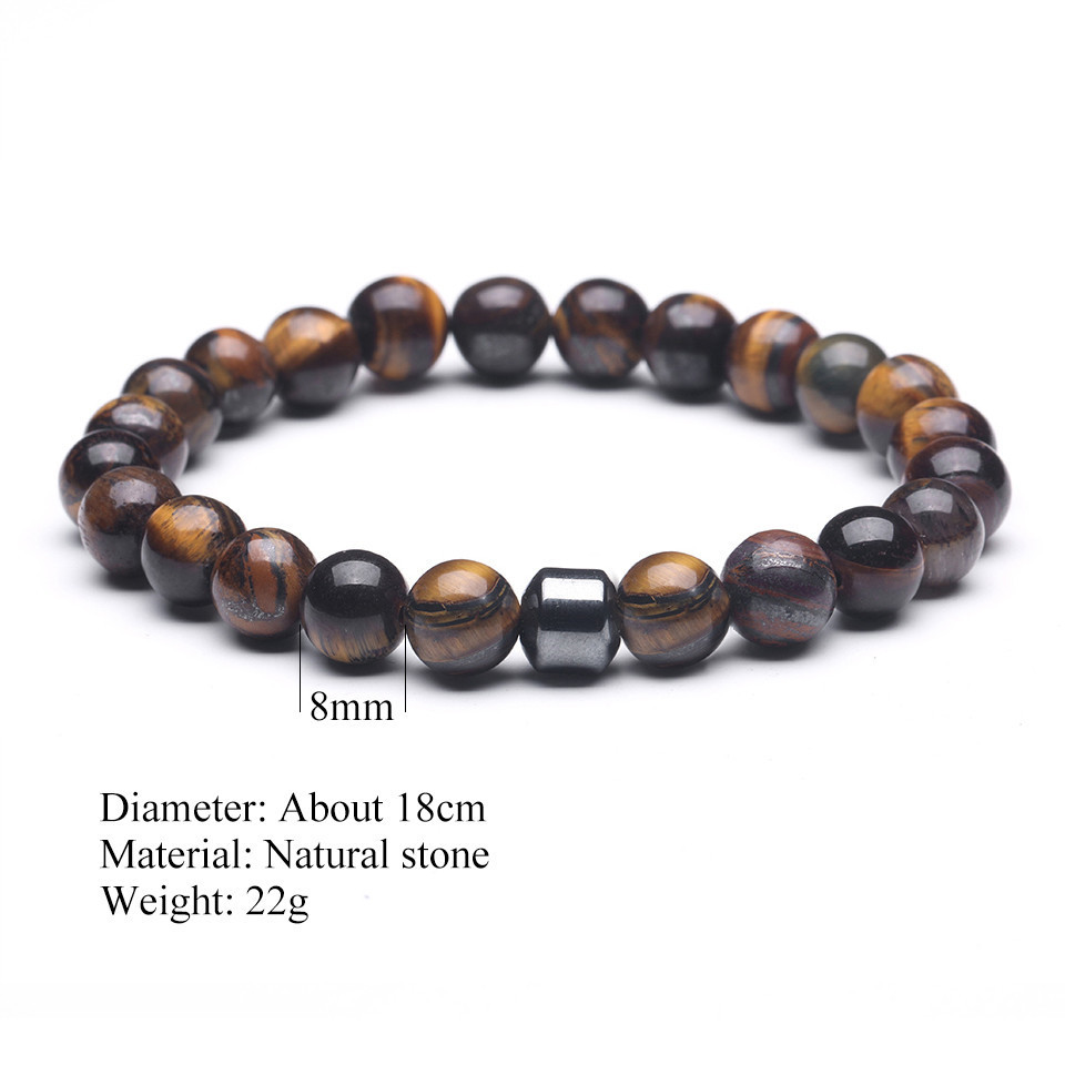 2019 Cylinder Beaded Bracelet For Men Classic Nature Tiger Eyes Stone Beads Charm Bracelets&Bangles Homme Male Yoga Jewelry Gift (41)
