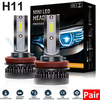 100pair Car headlight Mini Lamp H7 LED Bulbs H1 LED H8 H11 Headlamps Kit 9005 HB3 9006 HB4 6000k Fog light LED Lamp 36W 8000LM