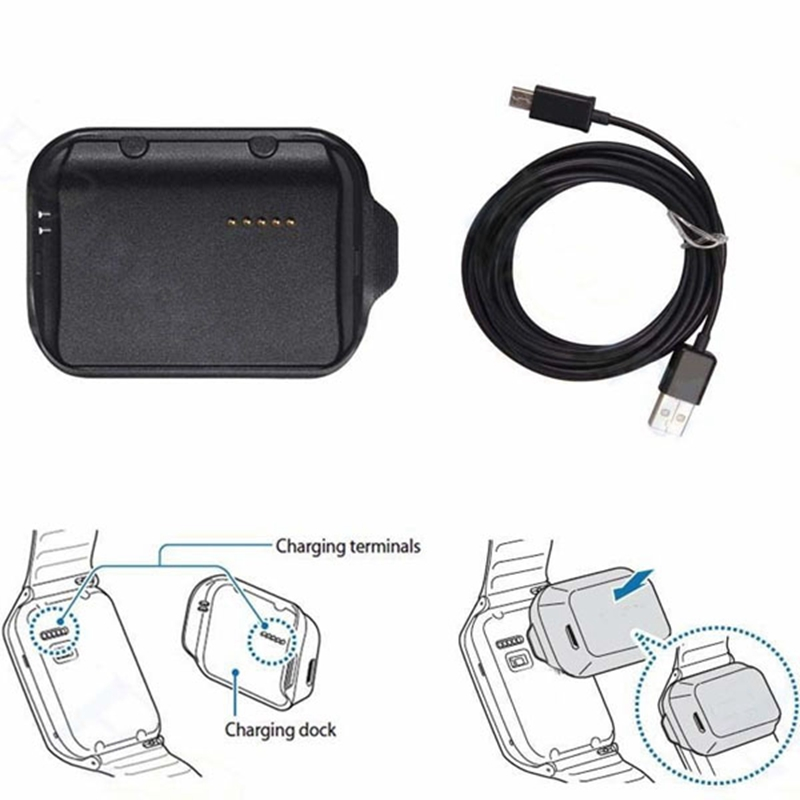font b Smartwatch b font Cradle Charger Station with USB Cable for Samsung Galaxy Gear