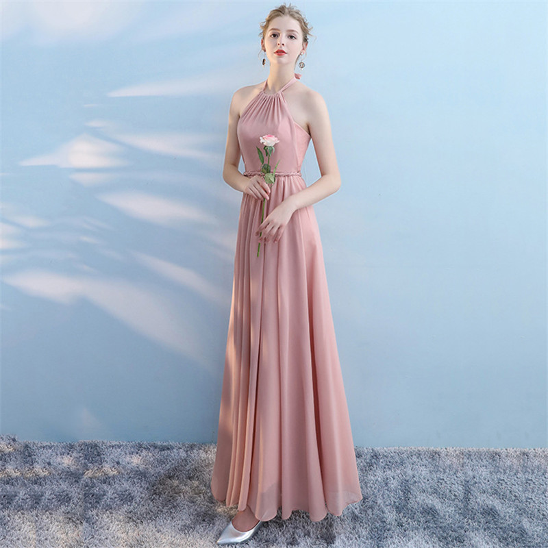 994766eea5 L XXXL Crystal Beaded Maxi Long Party Dresses Chiffon Ankle Length ...