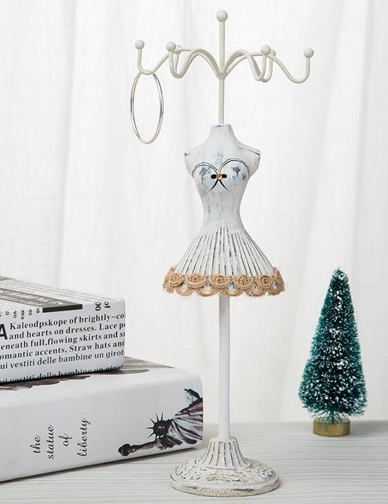 Gray mini Decoration Sequins Gown sexy Female mannequin Earring Necklace Stand Display Holder Ring storage jewelry rack 1pc C550 in Mannequins from Home Garden