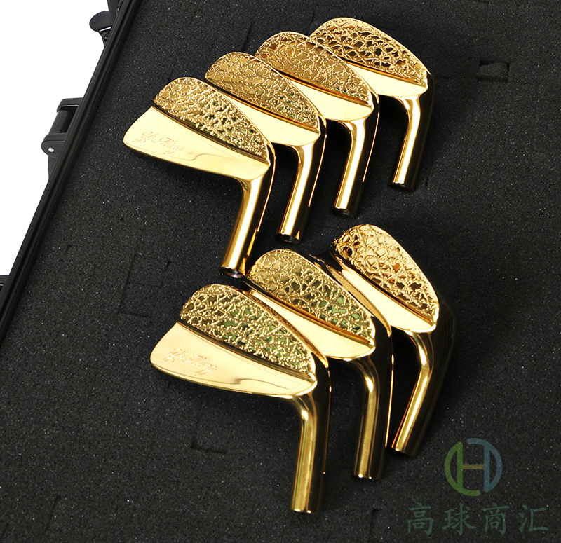 Golf club iron head golden and black 4-9p 7pcs 2017 NEW freeshipping бумажник golden head портмоне 3331501