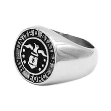 Wholesale United States Air Force Ring Stainless Steel Jewelry Military Ring Motor Biker Ring For Men SWR0731