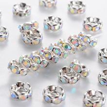 6 мм Класс латуни прокладки Rhinestone для изготовления ювелирных изделий DIY, никеля, 100 шт./лот(China)
