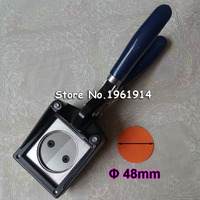 NEW Hand Held Manual Round 37mm 1 1/2 (Actual Cutting Size 48MM) Paper Graphic Punch Die Cutter for Pro Button Maker