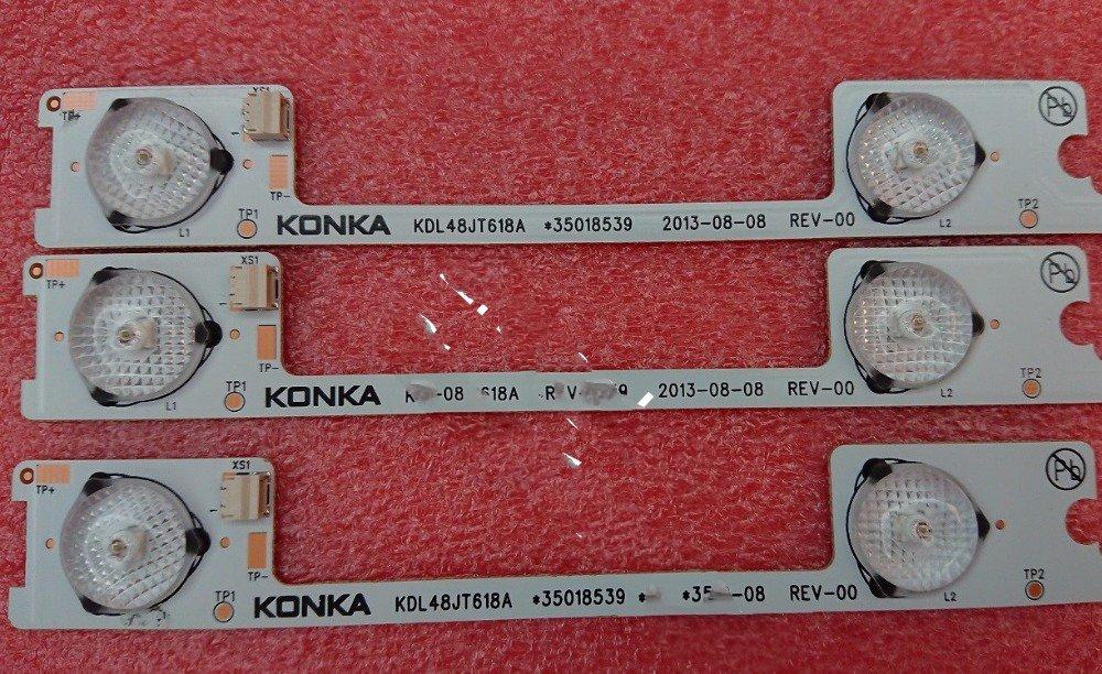 2-80 шт./лот светодиодные полосы бар огни работает для KDL48JT618U KDL48JT618A 35018539 35018540 35018541 6 светодиодов * 6 в 44,2 см смотреть на Алиэкспресс Иркутск в рублях