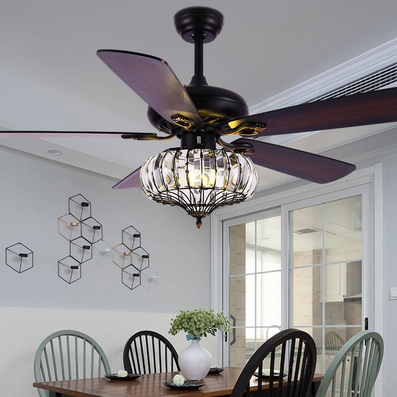 Ceiling Fan Lamp American Crystal