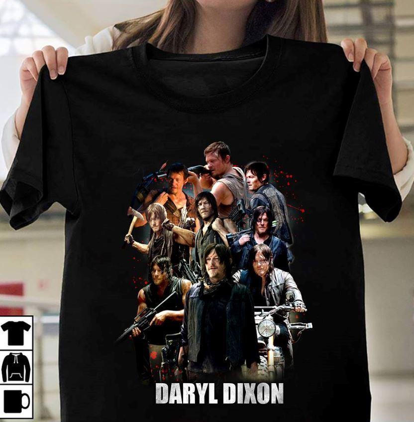 Daryl Dixon The Walking Dead T Shirt Black Cotton Men T-Shirt  Cool Casual Pride T Shirt Men Unisex Fashion Tshirt Free Shipping