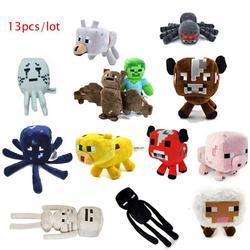 Free Shipping Minecraft plush toy Brinquedos Toys High Quality Plush Cartoon Game Toys 13pcs/lot