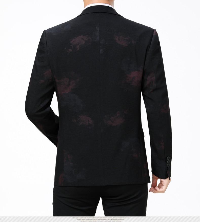 WAEOLSA Stylish Men Slim Fit Blazers Dark Flroal Print Suit Jackets Man Fashion Blazer Masculino Smart Casual Costume Mens Blazers Office (6)