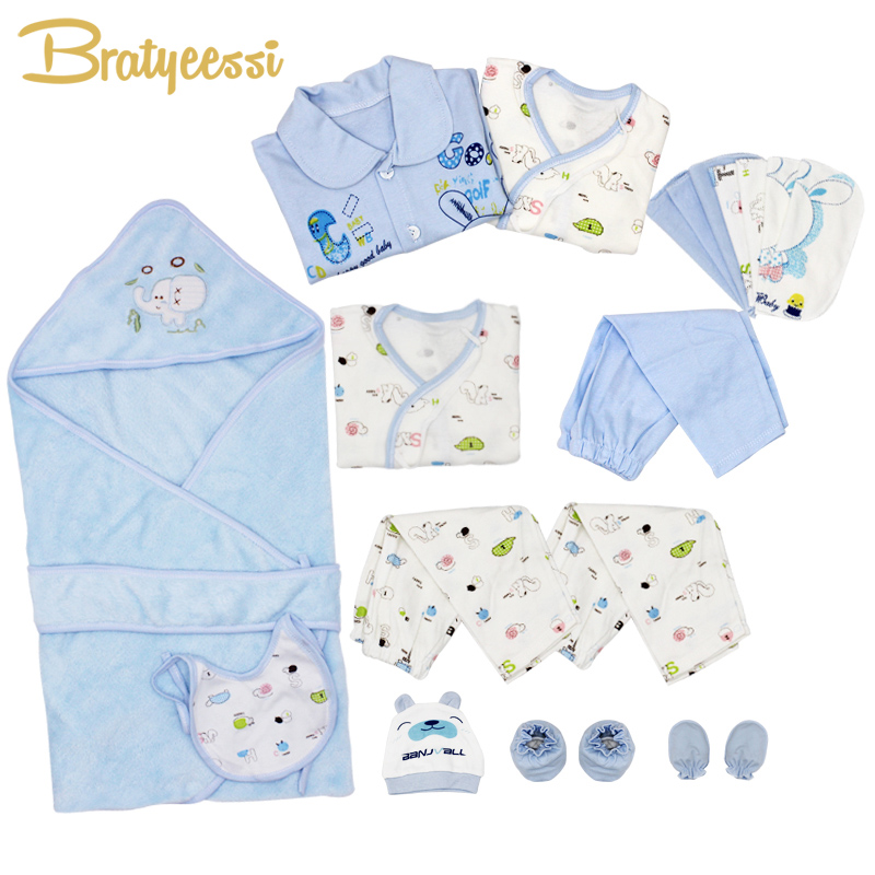 21 Pcs/Set Cotton Newborn Baby Clothing Set for Girls Boys Toddler Baby-clothes New Born Gift Set newborn baby halloween vampire cosplay jumsuit toddler boys girls funny cute clothes set kids photography props birthday gift