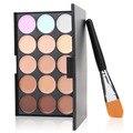 2015 Fashion hot 1set 2015 New 15 Colors Contour Face Cream Makeup Concealer Palette Powder Brush New Quality Hot
