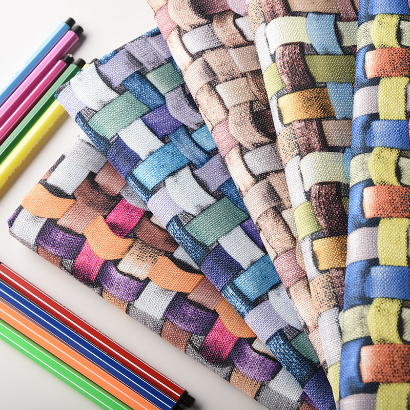 Polyester Simulated Polyester 3D Strips Printed Fabric Cushion Sofa Pillow Decoration Cloth Toy DIY Sewing Material