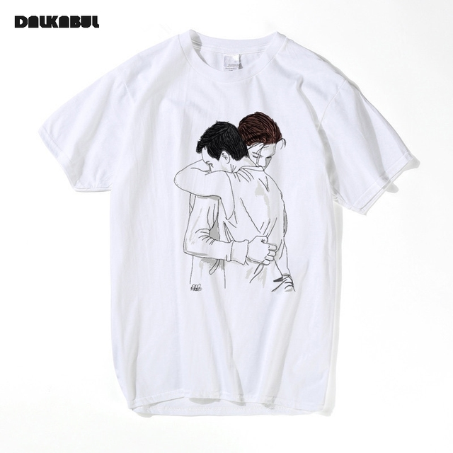best loved 0c3cf 41bd1 US $12.63 21% OFF|Aliexpress.com : Schamlose Lustige t shirts Frauen Brief  T shirt Swag Hip Hop Rap T shirts Männer Homosexuell Gallavich Blumen T ...