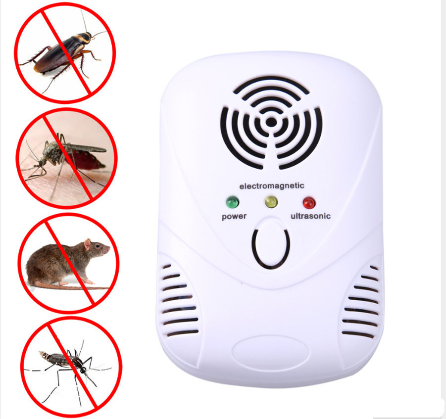 VICTMAX 110-240V/6W Electronic Ultrasonic Mouse Killer Mouse Cockroach Flying Trap Mosquito Repeller Insect US/EU Plug