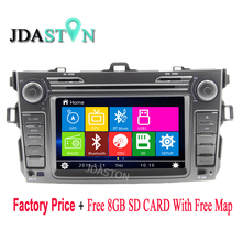 JDASTON 2 Din In-Dash Car DVD Player For Toyota COROLLA 2007 2008 2009 2010 2011 2012 GPS Navigation auto Radio RDS Free Map
