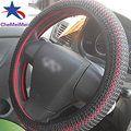2016 New 1PC DIY Elastic Anti-slip Breathable Ice Silk Car Steering Wheel Cover Case Black Free shipping