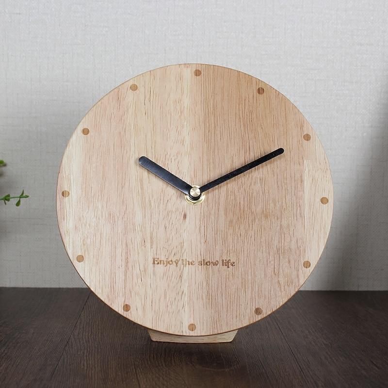 Meijswxj Wood Bracket Clock Saat Reloj Desktop Clock Bedside Relogio Reloj Despertador Table Clocks Masa Saati Relogio De Mesa Desk & Table Clocks