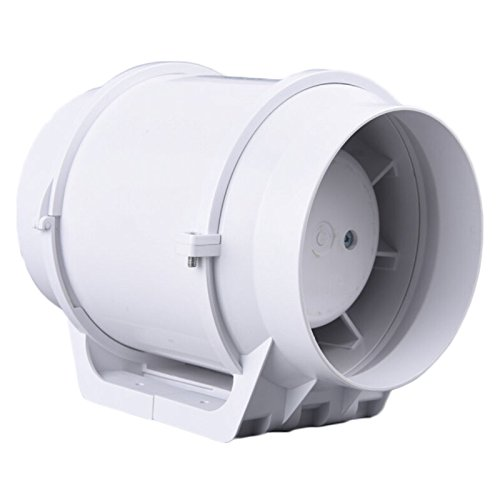 Hon&Guan 5 HF-125S Extractor Fan Mixed Flow Ventilation System Exhaust Air for Bathroom Kitchen 5Inch Inline Duct Fan orix 24v 1a cross flow ventilation fan mfd915 24a f1
