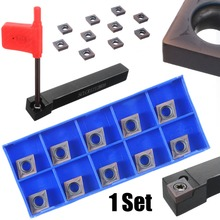 10pcs CCMT09T304 Carbide Inserts + 1pc SCLCR1212H09 Boring Bar Holder Lathe Turning Tool for Cutting Engraving цена и фото