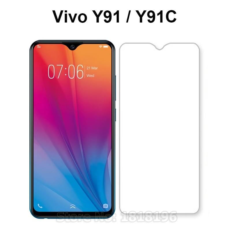 Tempered Glass For Vivo Y91 Y91i Y91C Case Glass Mobile Phone Film Vivo Y91C Screen Protector For Vivo Y91C Y 91C VivoY91C 6.22