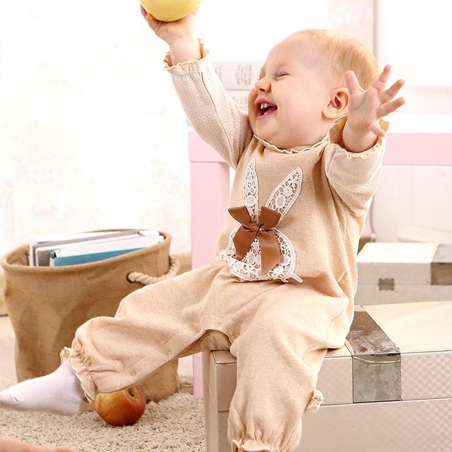 Juego del cuerpo del bebé primavera y otoño mameluco recién nacido ropa 100% algodón ropa del niño pequeño