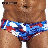 BSHETR Marke Männer Unterweist Camouflage Farbe Neue Shorts Sexy Männliche Unterwäsche Slip Low Rise Ultimative Strand Trunks Unterhose