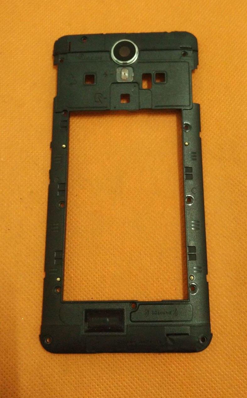 Utilisé Original Retour Cadre + haut-parleur + caméra verre pour Ulefone Métal 5 pouce HD MTK6753 Octa Core Livraison gratuite