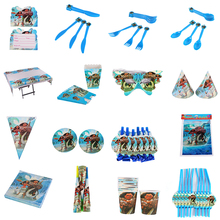 145pcs/lot Moana Children Birthday Party Decorations Kids Party Supplies Birthday Disposable Tableware Sets Kids Party Favors