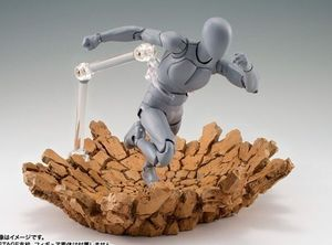 Image 5 - Special Effect Impact burst rock shock crack for Kamen Rider 1/12 1/10 figure toy model Accessories
