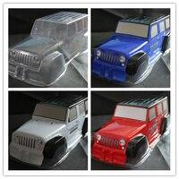 2pcs 1/10 RC 313mm Wheelbase Jeep Wrangler Rubicon PVC Shell body for Rock Crawler Axial SCX10 D90 TAMIYA CC01 hsp Monster truck