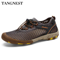 Tangnest New Summer Men Casual Shoes Breathable Mesh Shoes Men Water Walking Footwear Man Beach Light