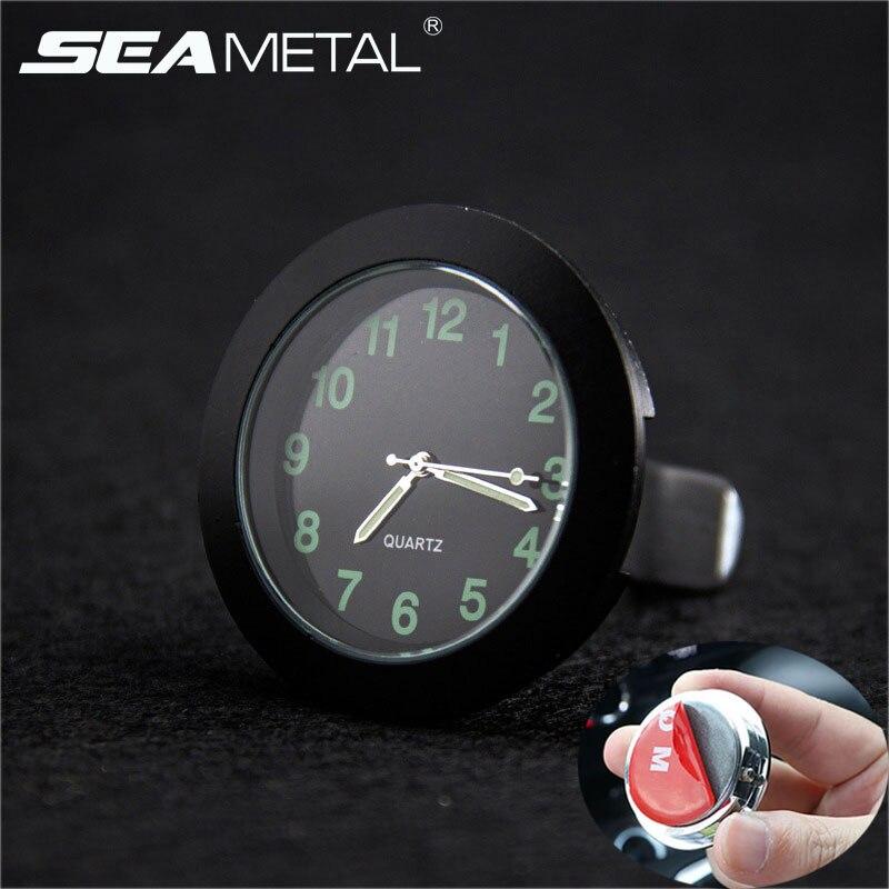 35c0a89a6f42 Automóvil reloj de cuarzo relojes puntero luminoso de reloj Universal reloj  Digital para coche electrónica estilo Accesorios de coche