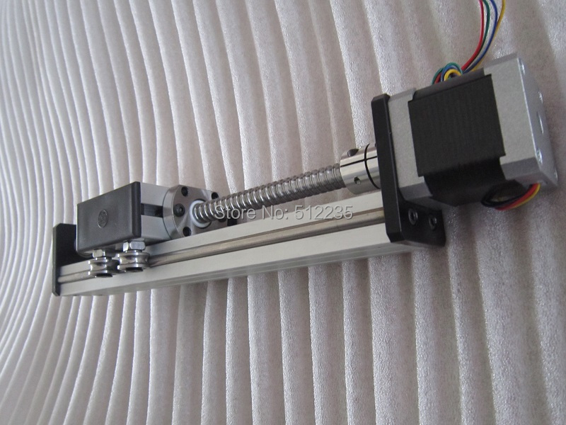 High Precision SG Ballscrew 1204 400mm Travel Linear Guide  + 57 Nema 23 Stepper Motor  CNC Stage Linear Motion Moulde Linear motorized stepper motor precision linear rail application for labs