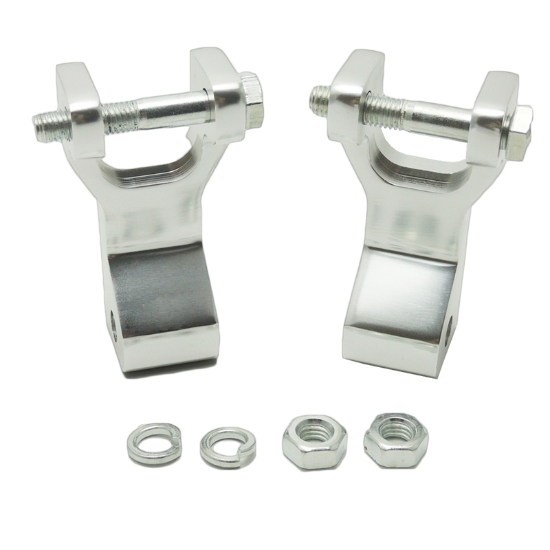 KEMiMOTO For Yamaha Raptor 350 Raptor660 Blaster Warrior ATV Front Lowering Kit Silver Aluminum Lowering Link ...