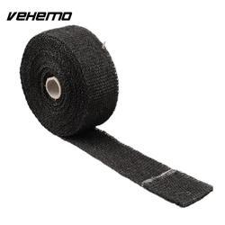 Vehemo 2017 chaleur d'échappement Thermo Turbo Wrap bande 2 X 10 m ignifuge tissu rouleau noir 1022C voiture isolation avec noir