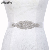 Crystal Wedding Belts Satin Rhinestone Bridal Belt With Stones Wedding Dress Diamond Belt Bride Ribbon Sash Waistband