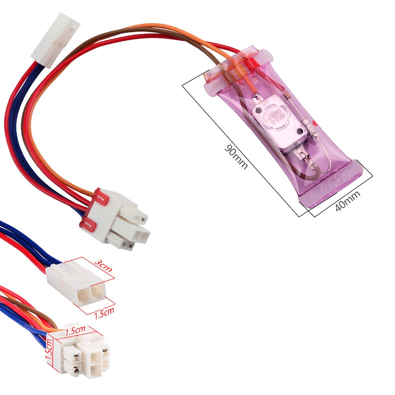AC 250V 10A N12-5 Degrees Celsius 3 Cables(square) Bimetal Fridges Defroster Thermostat Refrigerator Defrost Thermostat