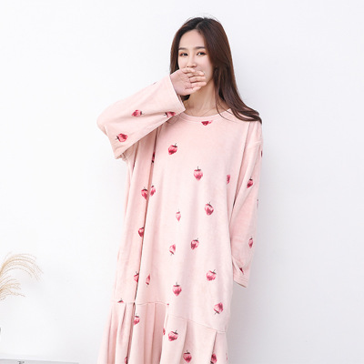 New Arrival Loose Women   Nightgowns     Sleepshirts   2019 Long Sleeve Winter Autumn Nightdress Pijama Casual Home Clothes