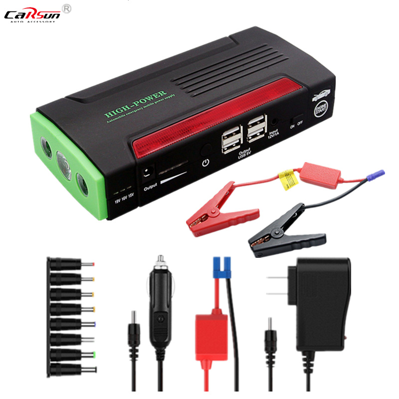 HCOOL Car Jump Starter 12V 600A Peak 20000mAh Portable Auto Battery Booster Power Pack Phone Power Bank Smart Charging Ports