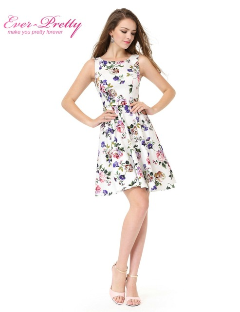 Simple fashion round neck short Cocktail Dresses Ever Pretty AS05488 low stretch Mini Cocktail Party Dresse