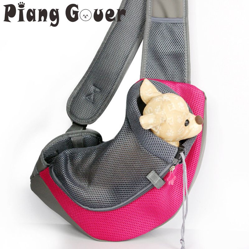 Breathable Small Dog Front Carrying Bags Mesh Comfortable Travel Tote Shoulder Bag For Puppy Cat Pets Carriers