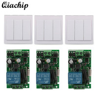 Wall Switch 1 CH Relay Receiver RF 433MHz TX 433MHz RF RX Wall Panel Wall