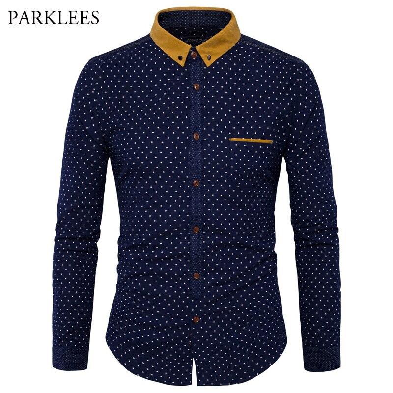 Online Get Cheap Mens Button Down Shirt Dotted -Aliexpress.com ...