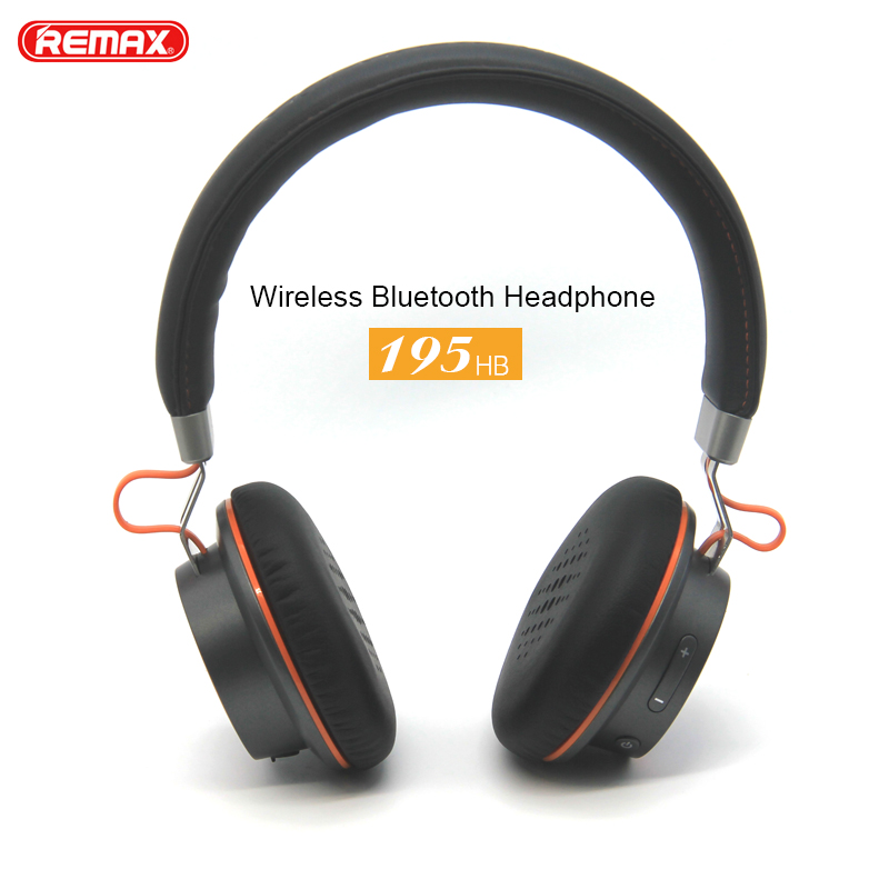 Remax 195HB Wireless Headphones Bluetooth Earphone Stereo Hands Free Headset over-ear headphone with microphone for mobile phone remax metal headphones base driven high performance stereo earphone with microphone and in line control rm 305m