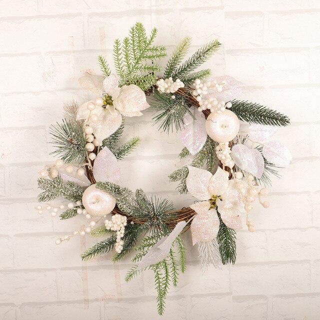 Kerst Ballen Krans Deur Muur Tuin Ornament Garland Thuis Bruiloft Decor 19 inches Kleine Kerstversiering Krans Wallhang